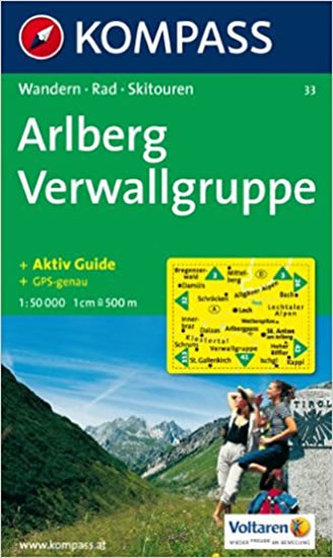 Arlberg Nördl.Verwallgruppe 33 / 1:50T KOM