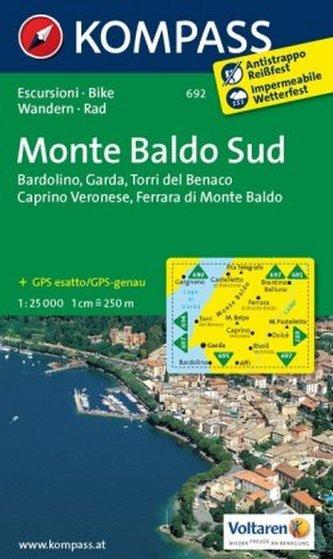 Kompass Karte Monte Baldo Sud