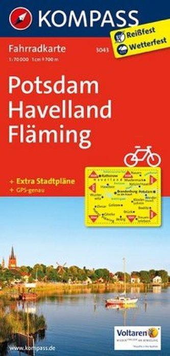 Kompass Fahrradkarte Potsdam, Havelland, Fläming