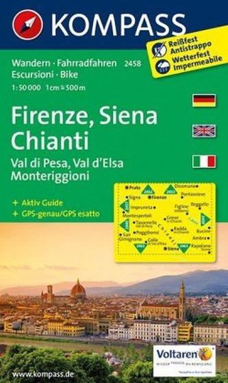 Kompass Karte Firenze, Siena, Chianti