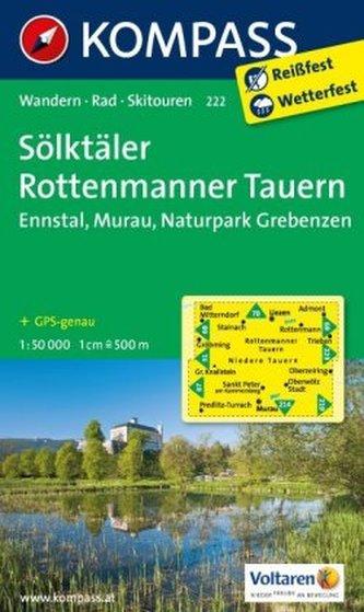 Kompass Karte Sölktäler, Rottenmanner Tauern
