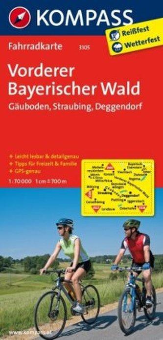 Kompass Fahrradkarte Vorderer Bayerischer Wald