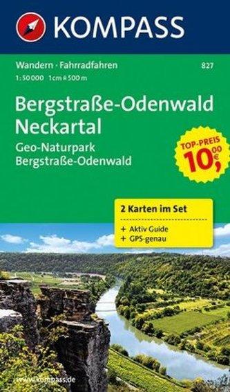 Kompass Karte Bergstraße-Odenwald, Neckartal, 2 Bl.