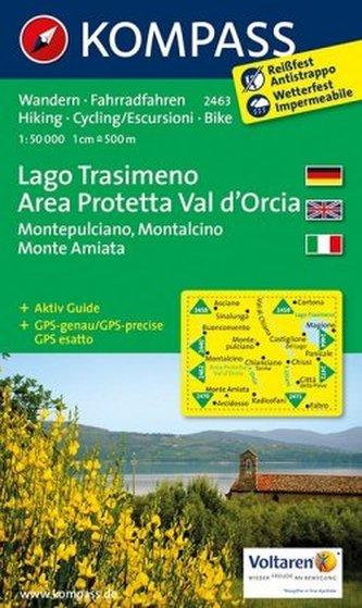 Kompass Karte Lago Trasimeno, Area Protetta Val d' Orcia