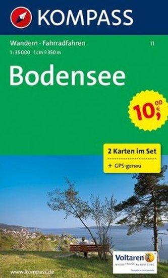 Kompass Karte Bodensee, 2 Bl. m. Kompass Naturführer Wiesenblumen
