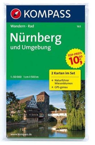 Kompass Karte Nürnberg und Umgebung, 2 Bl. m. Kompass Naturführer Wiesenblumen