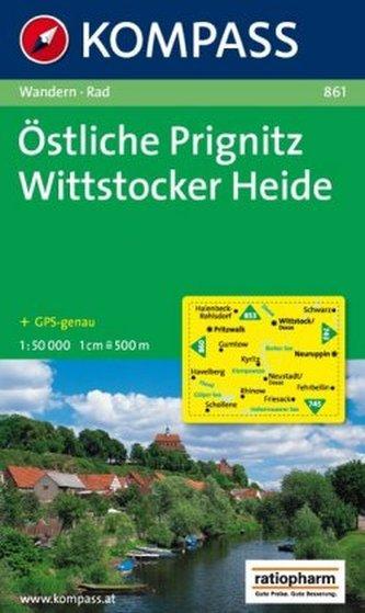 Kompass Karte Östliche Prignitz, Wittstocker Heide