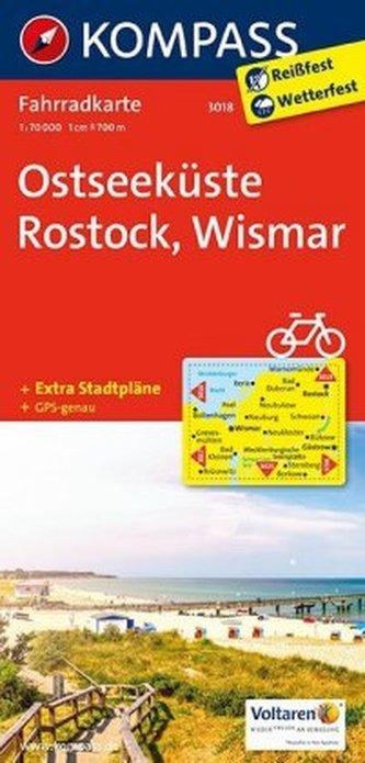 Kompass Fahrradkarte Ostseeküste, Rostock, Wismar