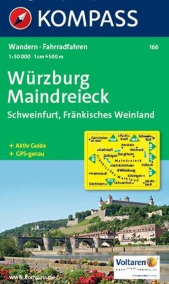 Kompass Karte Würzburg, Maindreieck