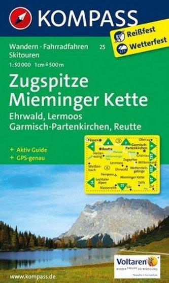 Kompass Karte Zugspitze, Mieminger Kette