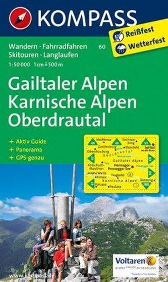 Kompass Karte Gailtaler Alpen, Karnische Alpen, Oberdrautal