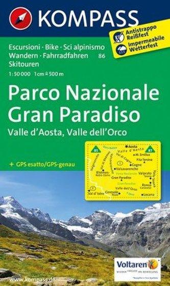 Kompass Karte Parco Nazionale Gran Paradiso