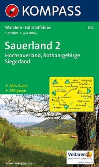 Kompass Karte Sauerland. Tl.2