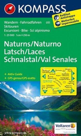 Kompass Karte Naturns, Latsch, Schnalstal. Naturno, Laces, Val Senales
