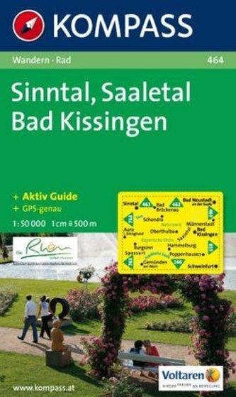 Kompass Karte Sinntal, Saaletal, Bad Kissingen