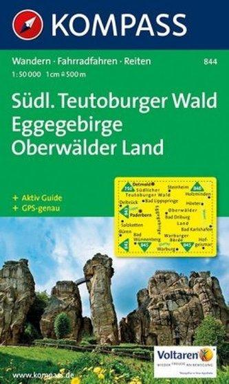 Kompass Karte Südlicher Teutoburger Wald, Eggegebirge, Oberwälder Land