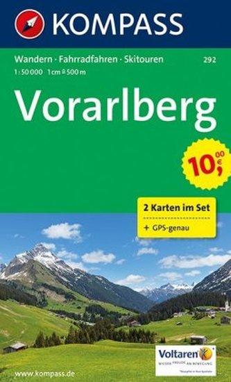 Kompass Karte Vorarlberg, 2 Bl. m. Kompass Naturführer Wiesenblumen
