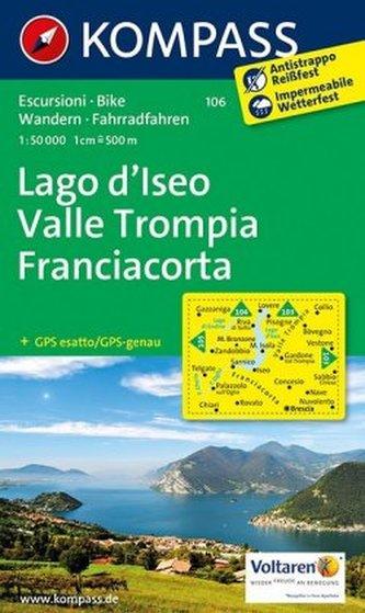 Kompass Karte Lago d' Iseo, Valle Trompia, Franciacorta