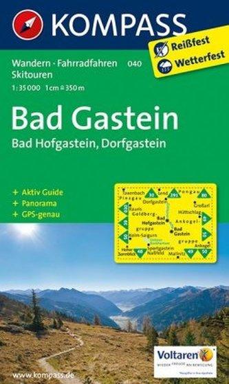 Kompass Karte Bad Gastein, Bad Hofgastein, Dorfgastein
