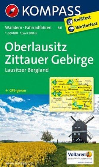 Kompass Karte Oberlausitz, Zittauer Gebirge