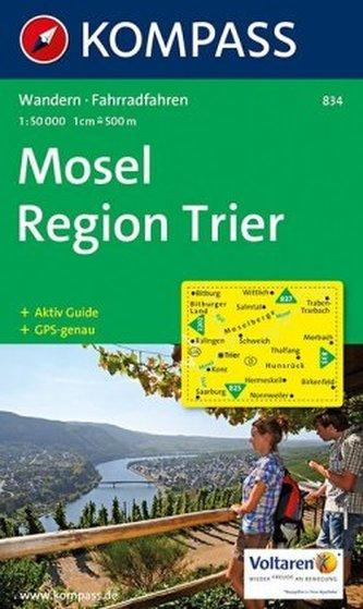 Kompass Karte Mosel, Region Trier
