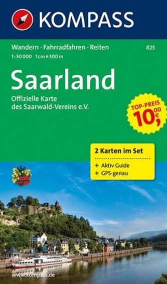 Kompass Karte Saarland, 2 Bl.