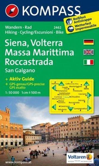 Kompass Karte Siena, Volterra, Massa Marittima, Roccastrada
