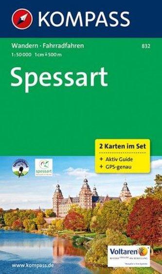 Kompass Karte Spessart, 2 Bl.