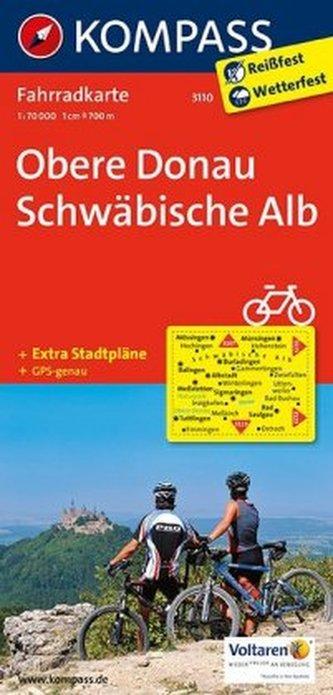 Kompass Fahrradkarte Obere Donau, Schwäbische Alb