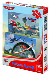 Letadla - Dusty a přátelé - Puzzle 2x66