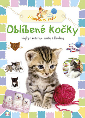Oblíbené kočky Nálepkový sešit
