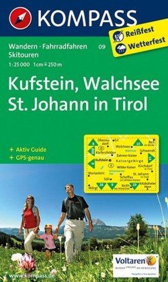 Kompass Karte Kufstein, Walchsee, St. Johann in Tirol