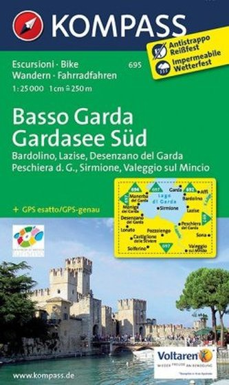 Kompass Karte Gardasee Süd. Basso Garda