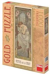 Alfons Mucha - Odpočinek noci - puzzle 1000 D