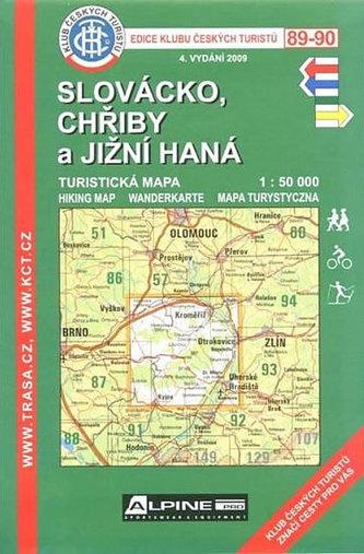 KČT 89-90 Slovácko, Chřiby a jižní Haná