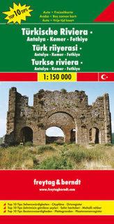 Freytag & Berndt Auto + Freizeitkarte Türkische Riviera - Antalya - Kemer - Fethiye 1 : 150.000. Turkish Riviera - Antalya, Keme
