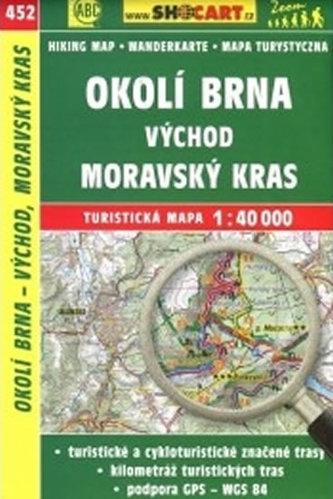 CKM Okolí Brna východ Moravský kras 452 1:40T