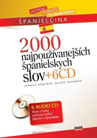 2000 najpoužívanejších španielskych slov + 6CD