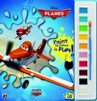 Letadla - Omalovánky s barvami A4 - neuveden