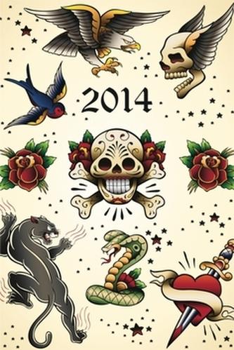 Diář 2014 - Tattoo - Týdenní magnetický