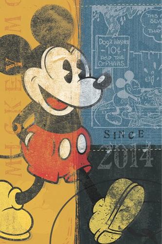 Diář 2014 - W. Disney Mickey Retro - Týdenní magnetický