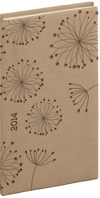 Diář 2014 - Tucson-Vivella speciál - Kapesní, krémová, květiny