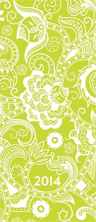 Diář 2014 - Kapesní plánovací měsíční - Flowers