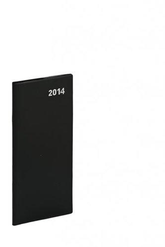 Diář 2014 - Kapesní plánovací měsíční PVC - černý