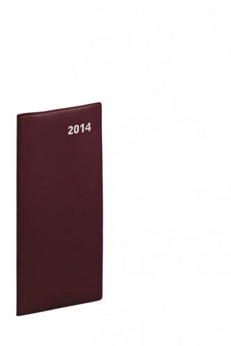 Diář 2014 - Kapesní plánovací měsíční PVC - vínový