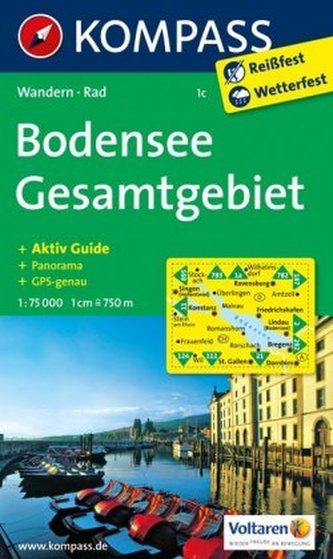 Kompass Karte Bodensee, Gesamtgebiet