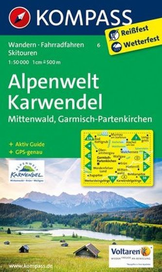 Kompass Karte Alpenwelt Karwendel