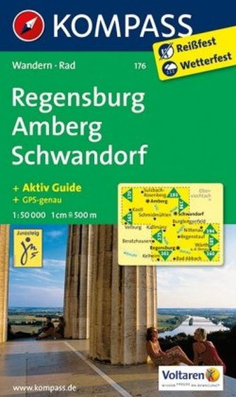 Kompass Karte Regensburg, Amberg, Schwandorf