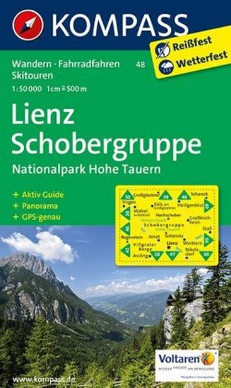 Kompass Karte Lienz, Schobergruppe, Nationalpark Hohe Tauern