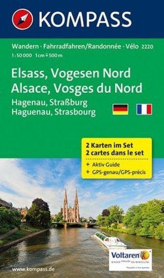 Kompass Karte Elsass - Vogesen Nord, 2 Bl.. Alsace - Vosges du Nord